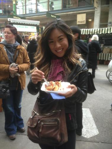 Not quite sure what I'm eating. Borough Market, London