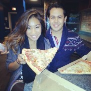 Pizza as big as my head with my dear friend Carlo. Chicago, Illinois.